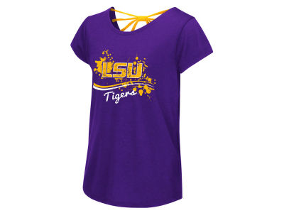 LSU Tigers Colosseum NCAA Youth Girl's I Know Bow Back T-Shirt
