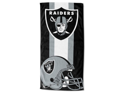 "Oakland Raiders AC DC 30x60 Beach Towel ""Zone Read"""