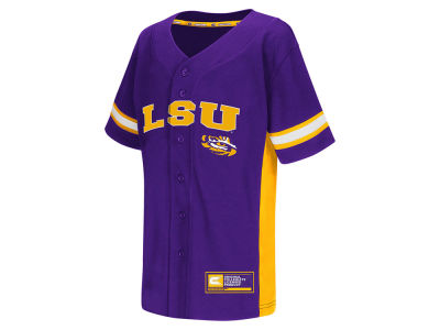LSU Tigers Colosseum NCAA Youth Strike Zone Baseball Jersey