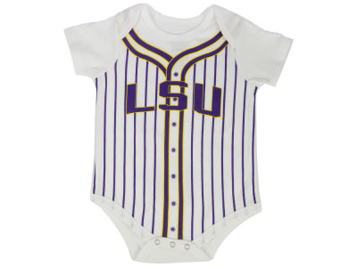 LSU Tigers Colosseum NCAA Newborn Fast Ball Onesie