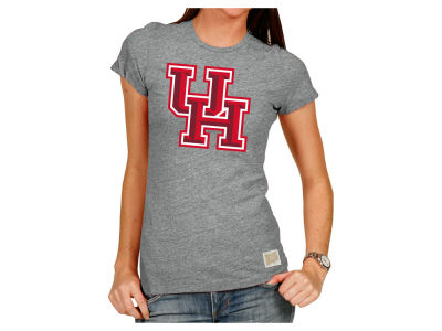 Houston Cougars Retro Brand NCAA Women's Crew Logo T-Shirt