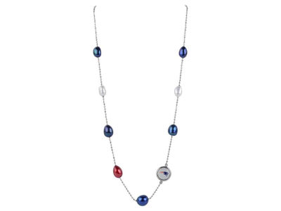New England Patriots Honora Necklace Multi Color Pearls