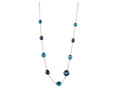 Philadelphia Eagles Honora Necklace with Multi Color Pearls and Charm