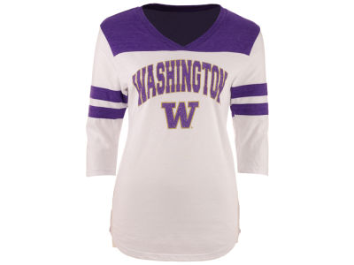 Washington Huskies Blue 84 NCAA Women's Arch Twill T-Shirt