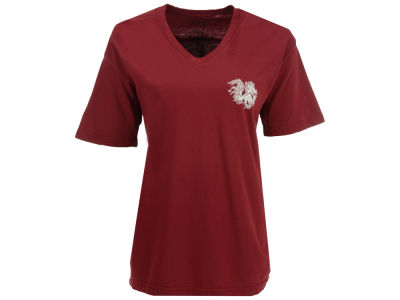South Carolina Gamecocks Pressbox NCAA Women's Quatre Logo Big T-Shirt
