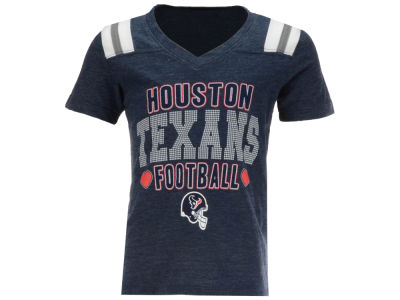 Houston Texans NFL Youth Girls Heart Football T-Shirt