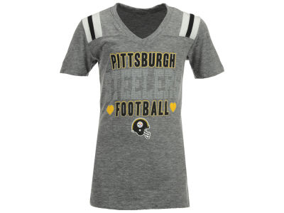 Pittsburgh Steelers NFL Youth Girls Heart Football T-Shirt