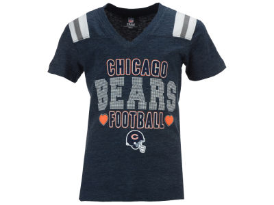 Chicago Bears NFL Youth Girls Heart Football T-Shirt
