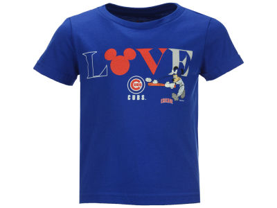 Chicago Cubs Outerstuff MLB Toddler Girls Mickey Love T-Shirt