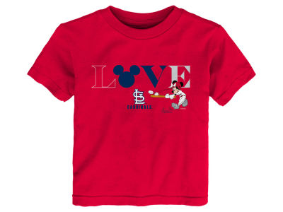 St. Louis Cardinals MLB Toddler Girls Mickey Love T-Shirt