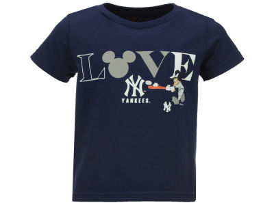 New York Yankees MLB Toddler Girls Mickey Love T-Shirt