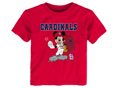 St. Louis Cardinals MLB Kids Mickey Stars T- Shirt
