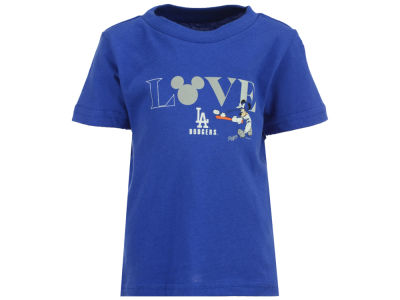 Los Angeles Dodgers MLB Infant Girls Mickey Love T-Shirt