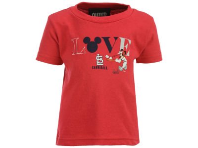 St. Louis Cardinals Outerstuff MLB Infant Girls Mickey Love T-Shirt