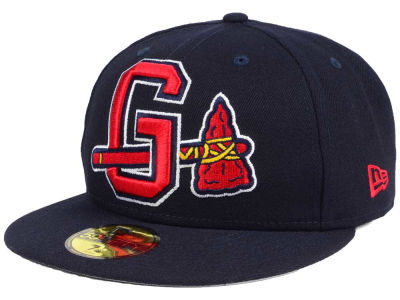 Gwinnett Braves New Era MiLB Logo Grand 59FIFTY Cap