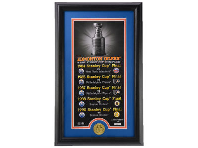 Edmonton Oilers 12x20 Legacy Pano Photo Mint