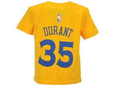 Golden State Warriors Kevin Durant NBA Kids Name And Number T-Shirt