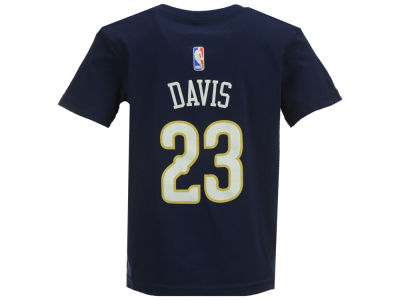 New Orleans Pelicans Anthony Davis NBA Kids Name And Number T-Shirt