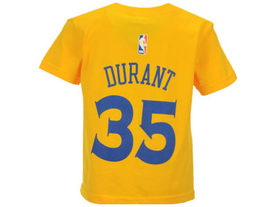 Golden State Warriors Kevin Durant NBA Toddler Name And Number T-Shirt