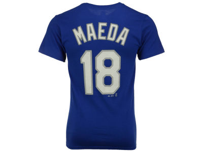 Los Angeles Dodgers Kenta Maeda Majestic MLB Youth Official Player T-Shirt