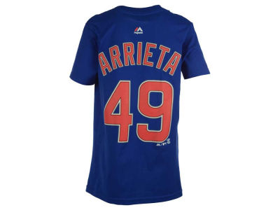 Chicago Cubs Jake Arrieta Majestic MLB Kids Official Player T-Shirt
