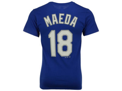 Los Angeles Dodgers Kenta Maeda Majestic MLB Kids Official Player T-Shirt
