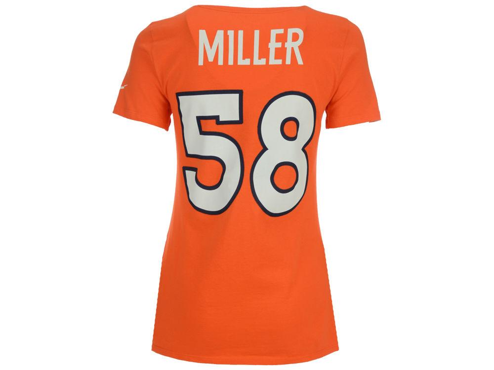 Denver Broncos Von Miller Nike NFL Women s Player Pride T-Shirt ... 9947e983f
