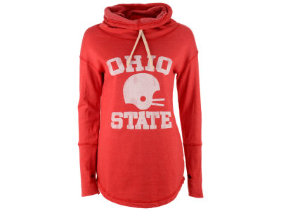 Ohio State Buckeyes NCAA Women's Retro Vintage Football Helmet Funnel Hoodie
