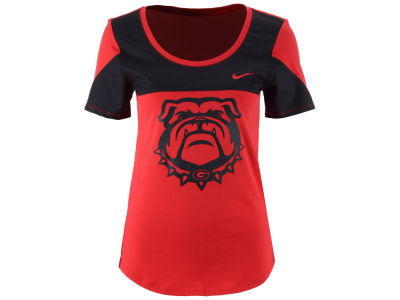 Georgia Bulldogs Nike NCAA Women's Enzyme Washed Scoop T-Shirt