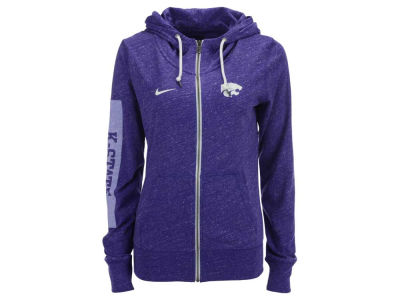 Kansas State Wildcats Nike NCAA Women's Tailgate Gym Vintage Full Zip Hoodie