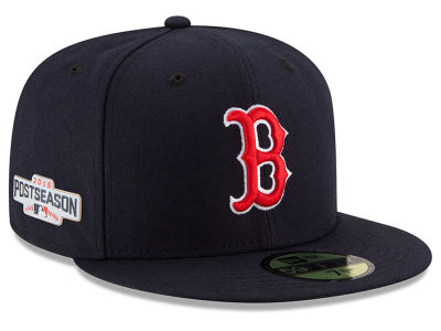 Boston Red Sox New Era MLB 2016 Post Season Authentic Collection Patch 59FIFTY Cap