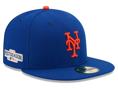 New York Mets New Era MLB 2016 Post Season Authentic Collection Patch 59FIFTY Cap
