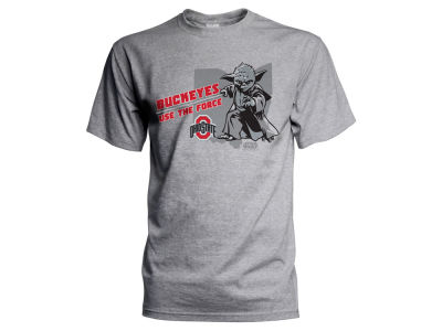 Ohio State Buckeyes NCAA Men's Star Wars Use The Force T-Shirt