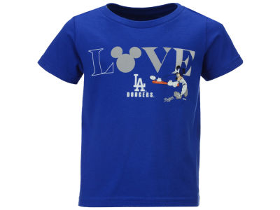 Los Angeles Dodgers MLB Toddler Girls Mickey Love T-Shirt