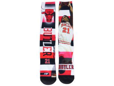 Chicago Bulls Jimmy Butler NBA Pro Stripe Player 308S Crew Sock