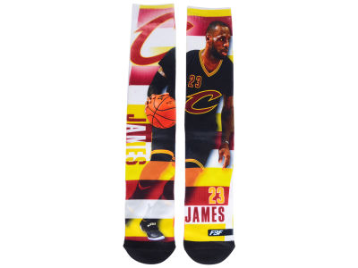 Cleveland Cavaliers LeBron James For Bare Feet NBA Pro Stripe Player 308S Crew Sock