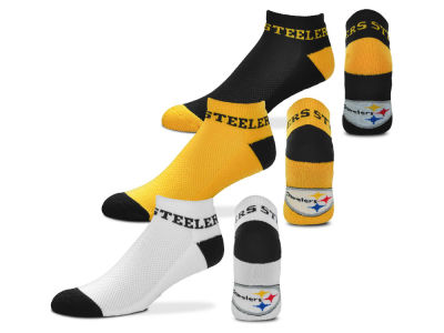 Pittsburgh Steelers Money No Show Sock - 3pk
