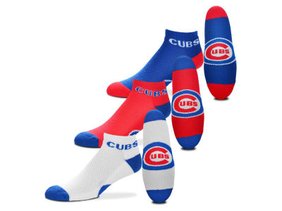 Chicago Cubs For Bare Feet Money No Show Sock - 3pk