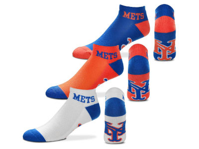 New York Mets For Bare Feet Money No Show Sock - 3pk