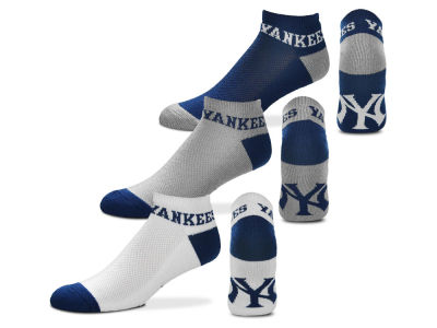 New York Yankees For Bare Feet Money No Show Sock - 3pk