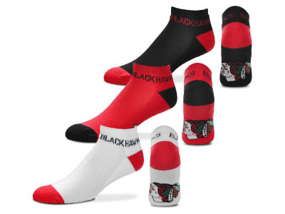 Chicago Blackhawks Money No Show Sock - 3pk