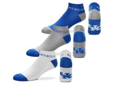 Kentucky Wildcats For Bare Feet Money No Show Sock - 3pk