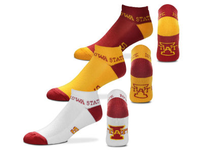 Iowa State Cyclones For Bare Feet Money No Show Sock - 3pk