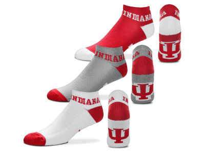Indiana Hoosiers Money No Show Sock - 3pk
