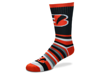 Cincinnati Bengals For Bare Feet Lotta Stripe Crew Sock
