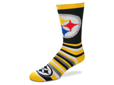 Pittsburgh Steelers Lotta Stripe Crew Sock