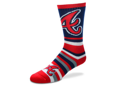 Atlanta Braves Lotta Stripe Crew Sock