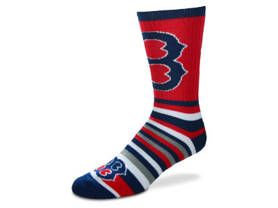 Boston Red Sox For Bare Feet Lotta Stripe Crew Sock
