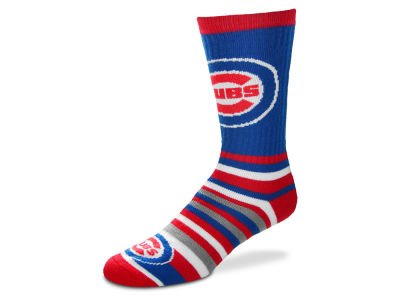 Chicago Cubs For Bare Feet Lotta Stripe Crew Sock