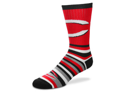 Cincinnati Reds For Bare Feet Lotta Stripe Crew Sock